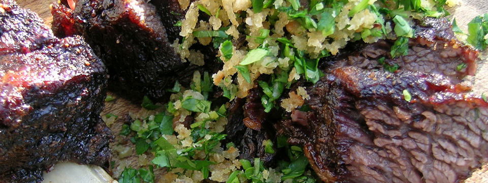 Smoky Beef Short Ribs with Gremolata